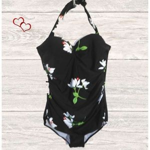 Other - NEW BLACK PRINT one piece  SWIM SUIT SIZE XL